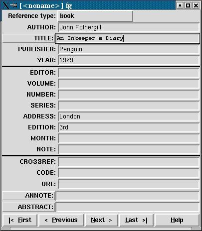 Formatting information